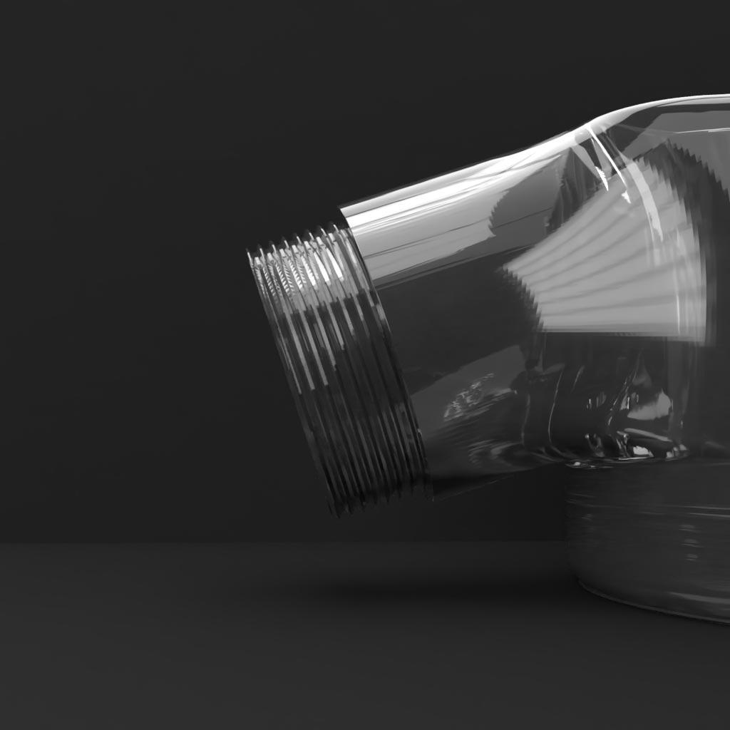 3D mock-up van een polycarbonaat spuitgieten product